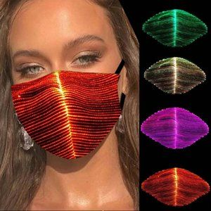 LED Light Up Mask with 7 Light and Color Options